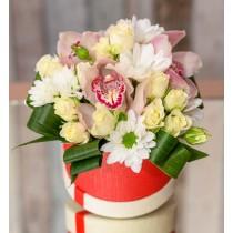 Aranjament alb roz