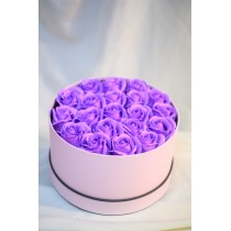 Aranjament 17 trandafiri de sapun mov