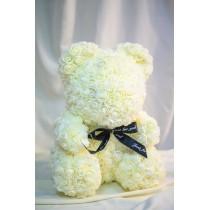 Ursuleti din trandafiri spuma albi