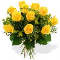 Buchet cu 11 Trandafiri galbeni