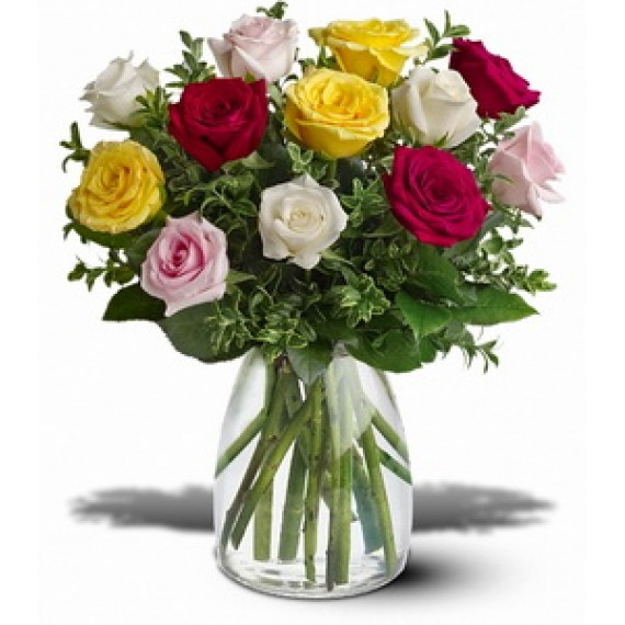VV3_Buchet cu 11 Trandafiri colorati