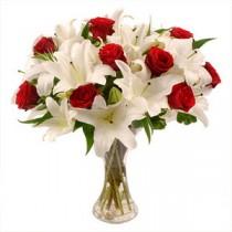 Flori in Alb si Rosu