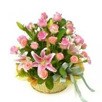 Cosulet cu Trandafiri si Crini