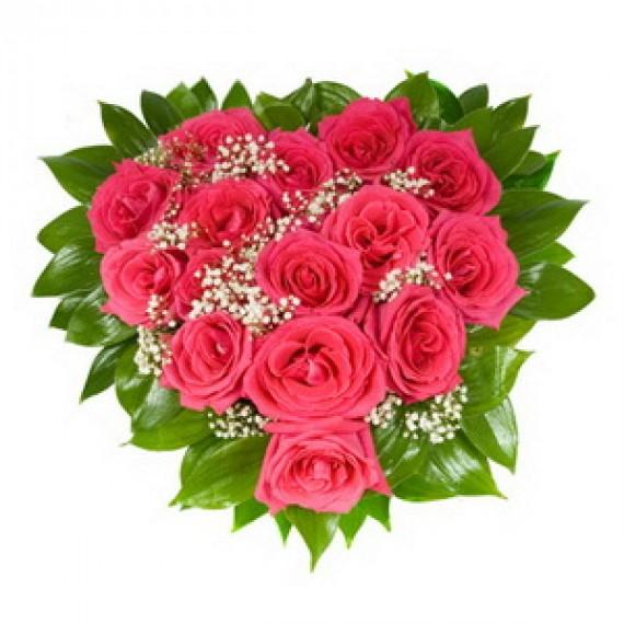 Inima din Trandafiri Roz