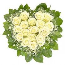 Inima din Trandafiri Albi