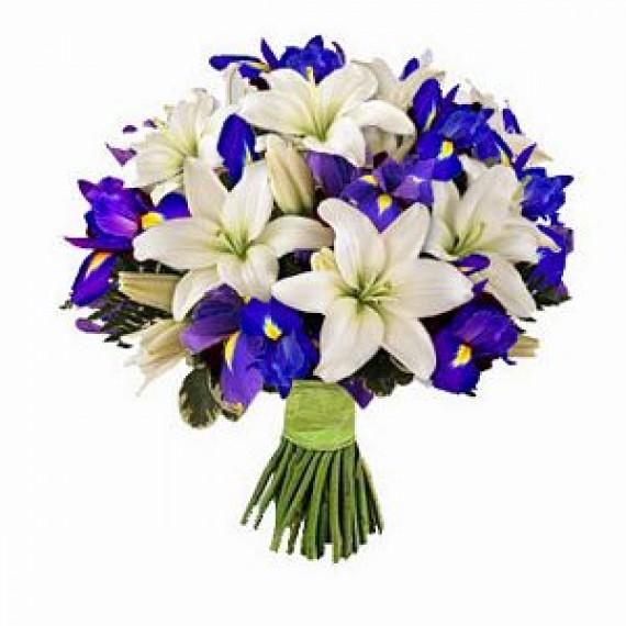 Buchet cu Irisi si Crini